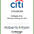 Citibank, N.A. FRN Notes Offering Due 2021 - July 2018