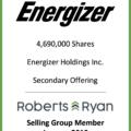 Energizer Holdings - Selling Group Member January 2019