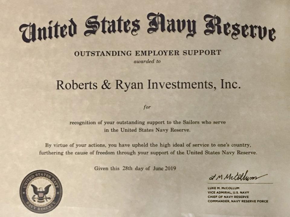 Outstanding Employer Support Award
