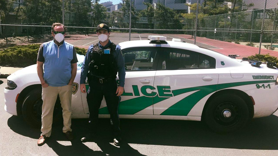 Long Branch Police mask donations