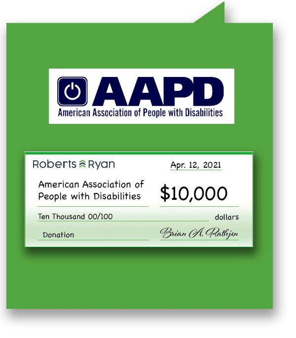 $10,000 donation to AAPD