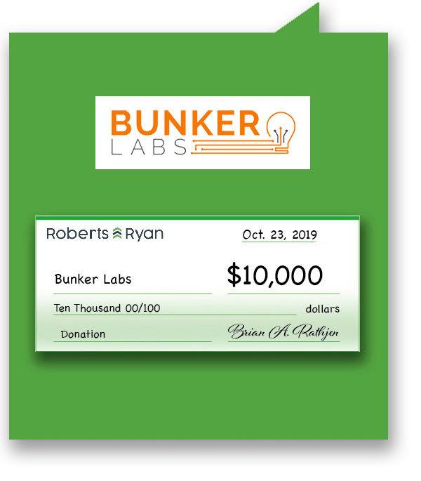 $10,000 donation to Bunker Labs