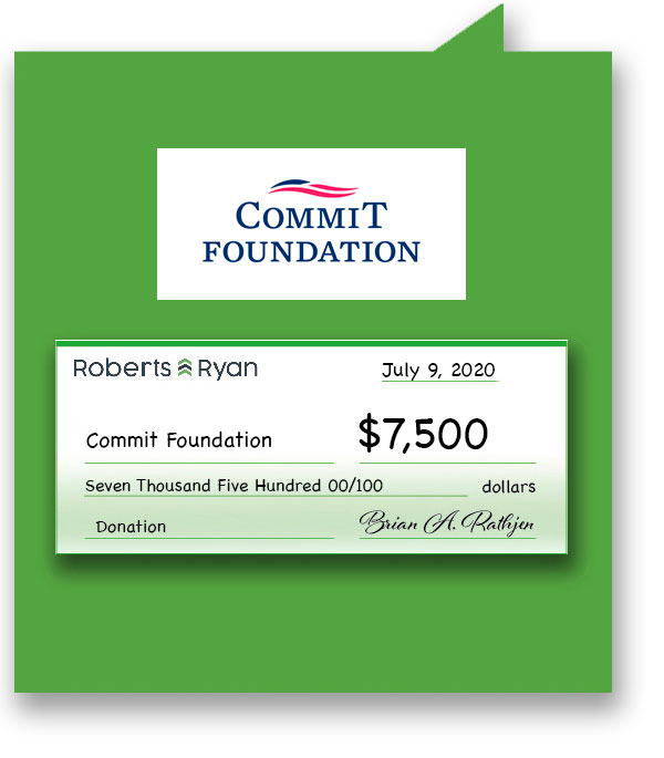 $7,500 donation to The Commit Foundation