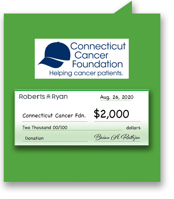 $2,000 donation to Connecticut Cancer Foundation