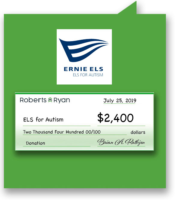 $2,400 donated to ELS for Autism