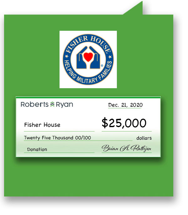 $25,000 donation to Fisher House
