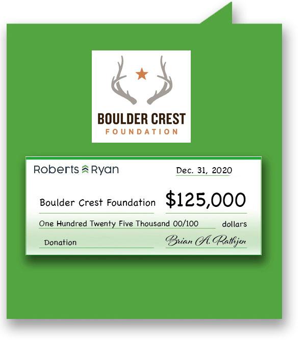 $125,000 donation to Boulder Crest