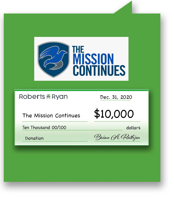 $10,000 donation to The Mission Continues