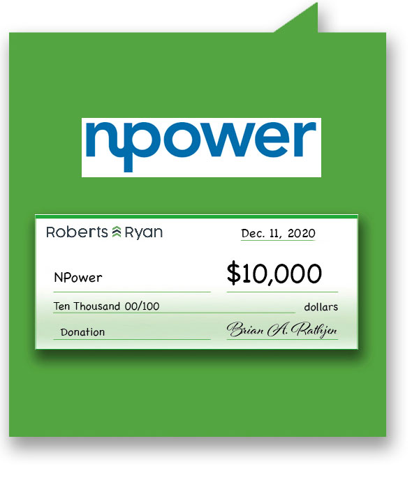 $10,000 donation to NPower