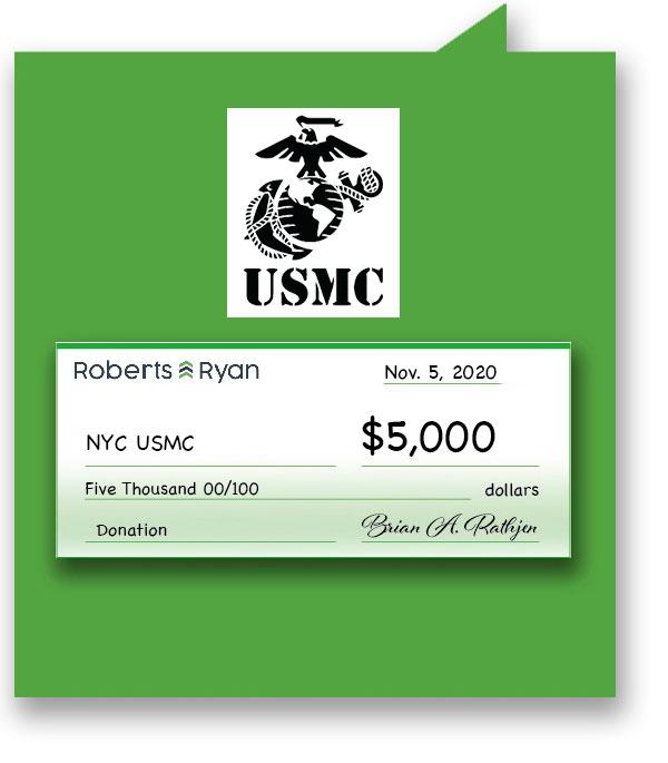 $5,000 donation to NYC U.S. Marine Corps