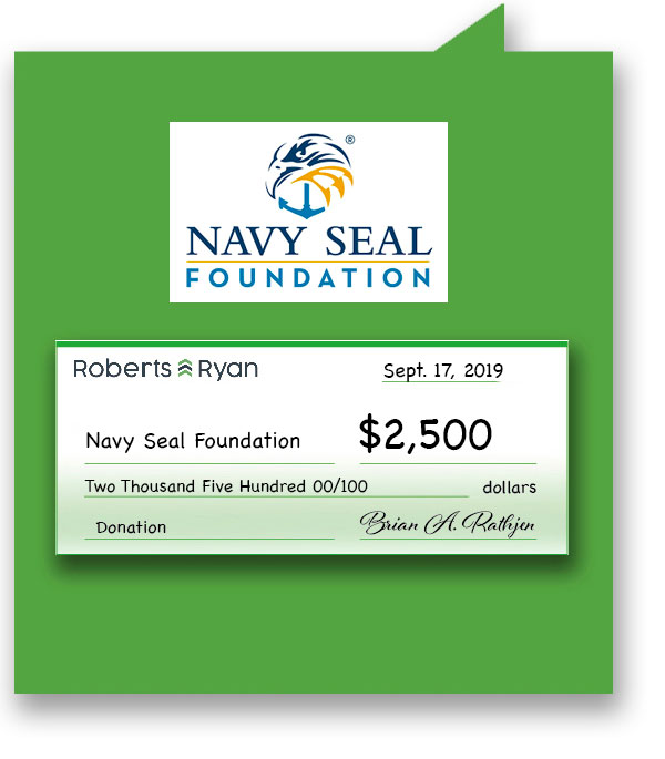 $2,500 donation to Navy Seal Foundation