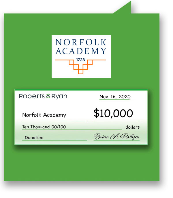 $10,000 donation to Norfolk Academy