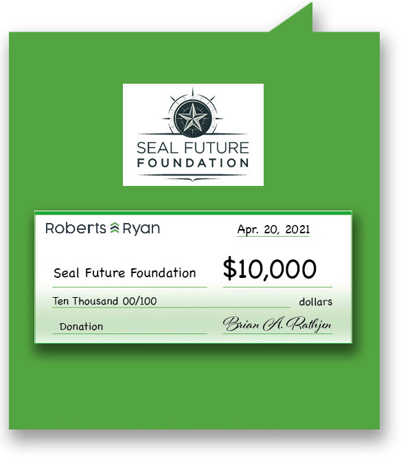 $10,000 donation to Seal Future Foundation
