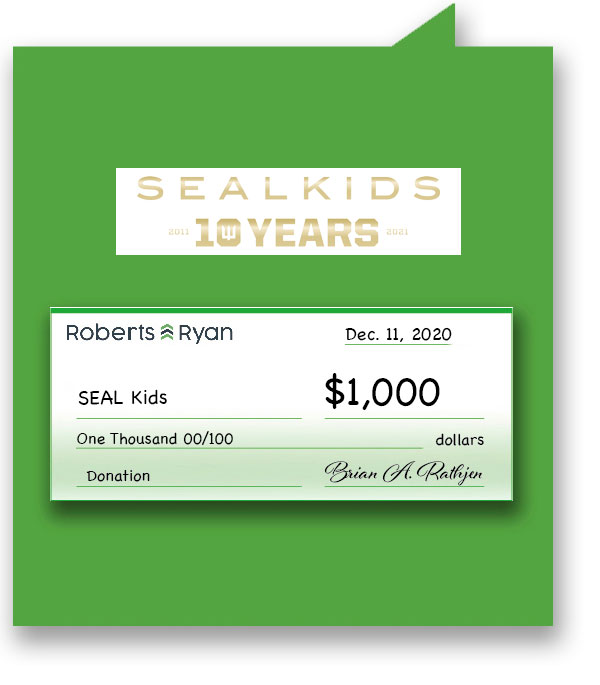 $1000 donation to SEAL Kids