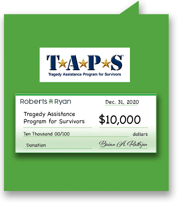 $10,000 donation to TAPS