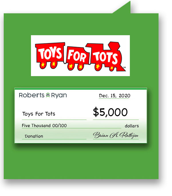 $5,000 donation to Toys for Tots
