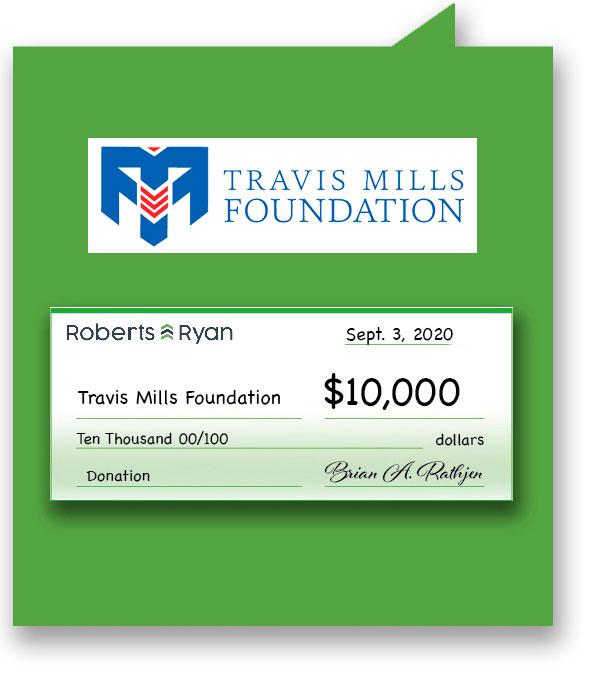 $10,000 donation to Travis Mills Foundation