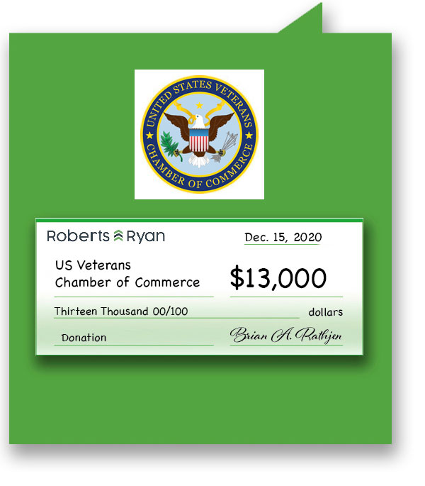 $13,000 donation to US Veterans Chamber of Commerce