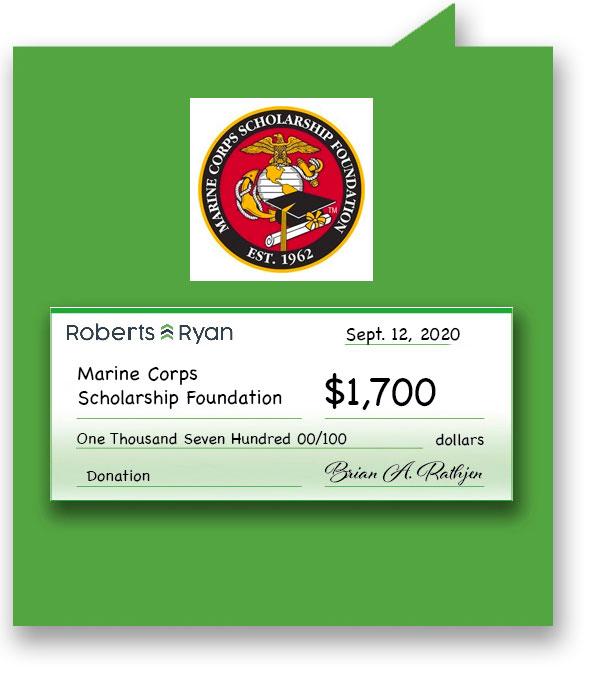 $1,700 donation to US Marine Corps Scholarship Foundation
