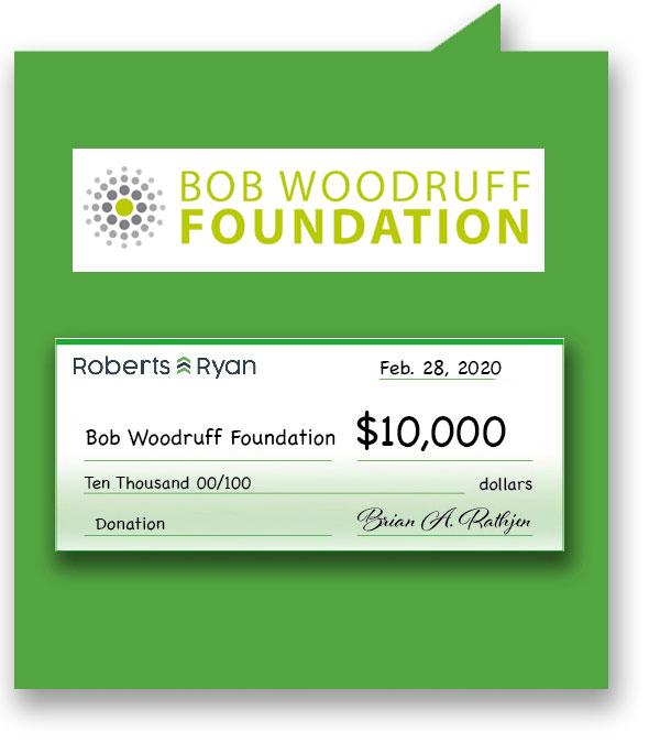$10,000 donation to Bob Woodruff Foundation