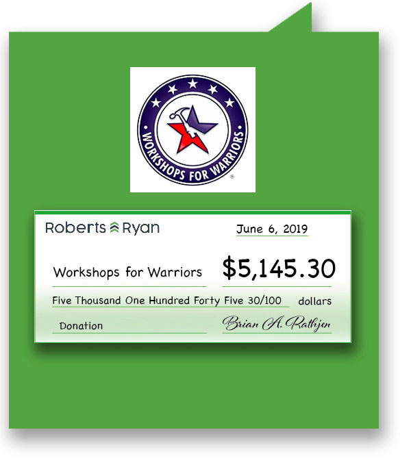 $5,145.30 donated to Workshops for Warriors