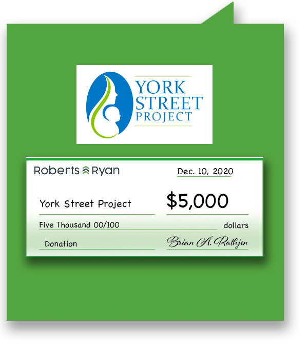 $5,000 donation to York Street Project