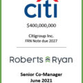 Citigroup FRN Note Due 2027 - June 2021