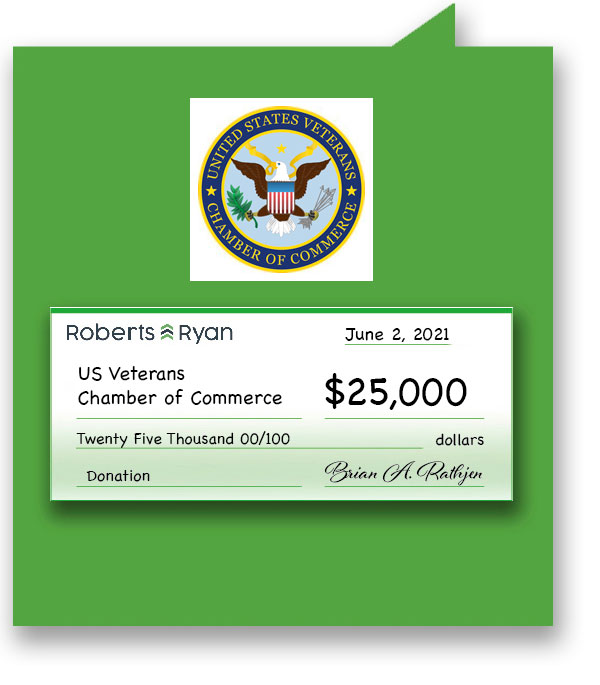 $25,000 donated to US Veterans Chamber of Commerce