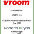 Vroom Senior Notes Due 2026 - July 2021