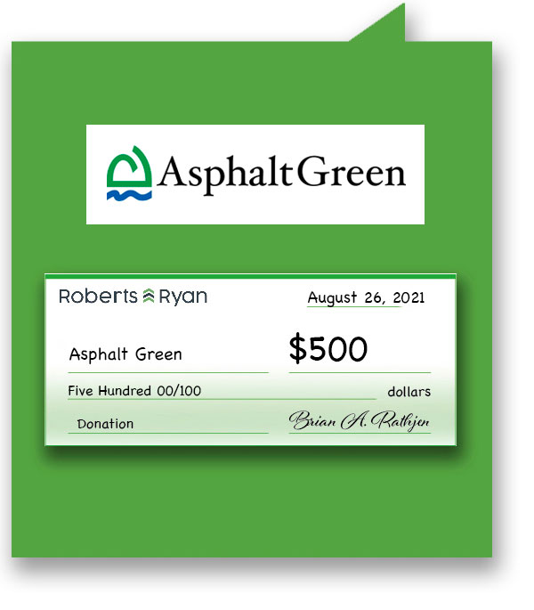 $500 donated to Asphalt Green