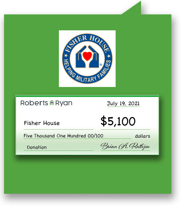 Roberts and Ryan donated $5,100 to Fisher House