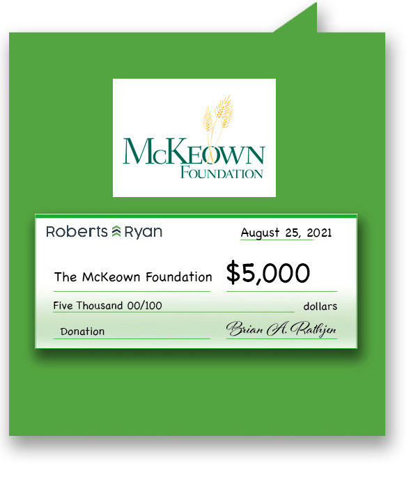 $5,000 donated to the McKeown Foundation